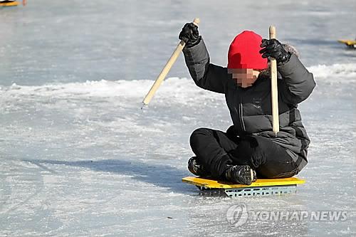 인천 청라국제도시 인공수로에 겨울철 썰매장 조성 추진