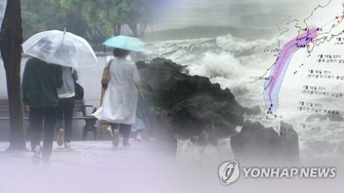 태풍 다나스에 지리산 211㎜ 폭우…경남 전역 호우특보
