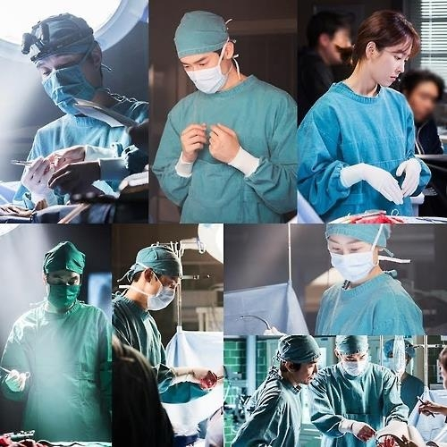 "This compilation of images shows stills from ""Dr. Romantic."" (Yonhap)"