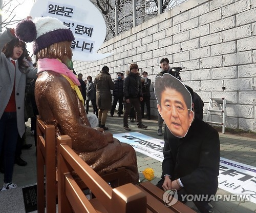 (News Focus) Diplomatic row with Japan flares up over comfort women statue - 1