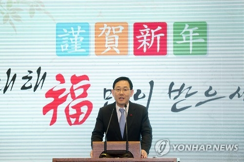 Rep. Joo Ho-young, the floor leader of the new Righteous Party (Yonhap)