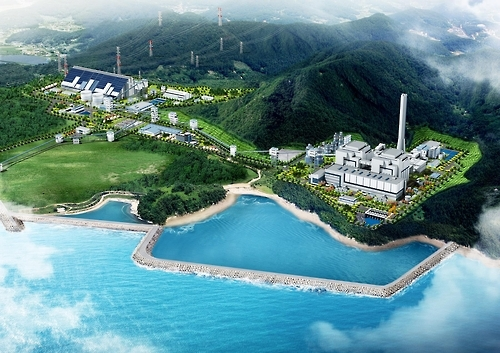 A rendered image of the new thermoelectric power plant in Goseong (Photo courtesy of SK E&C)