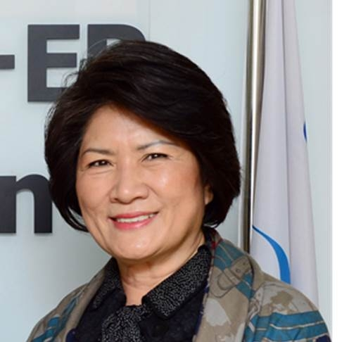 This photo, provided by the Seoul-based United Nations World Tourism Organization (UNWTO) ST-EP Foundation, shows its chairperson Dho Young-shim, who is running for Secretary-General at the UNWTO, on April 4, 2017. (Yonhap)