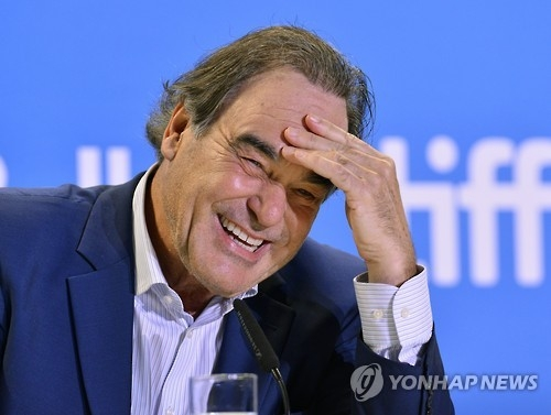 This file photo shows U.S. director Oliver Stone who was named head juror of New Currents at this year's Busan International Film Festival set to open on Oct. 12 in Busan. (Yonhap)