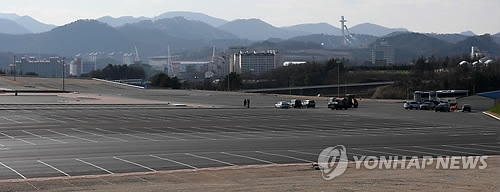 This photo shows Daegwallyeong Transport Mall in PyeongChang, Gangwon Province, the host city for the 2018 Winter Olympics, on Nov. 15, 2017. (Yonhap)