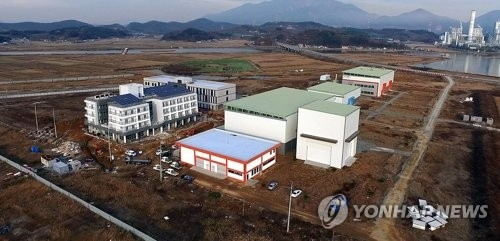 This undated file photo shows the site of the campus of Scotland's University of Aberdeen in Hadong, a town in South Korea's southern province of South Gyeongsang. (Yonhap)