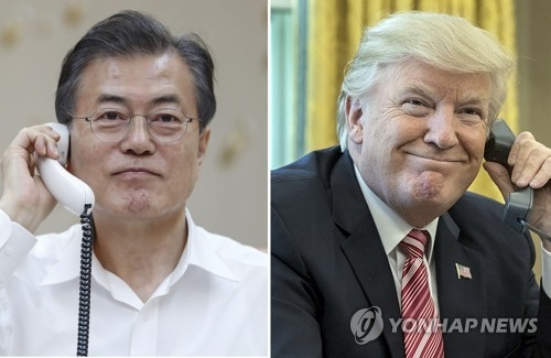 (LEAD) Moon says U.S.-N. Korea summit lays groundwork for world peace - 1