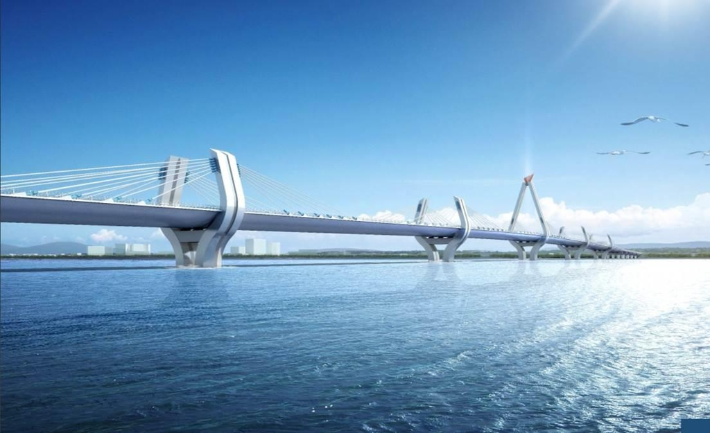 This graphic image shows the New Selander Bridge in Tanzania. (Yonhap)