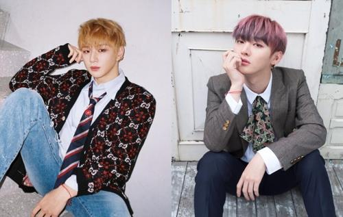 These images of Kang Daniel (L) and Yoon Ji-sung were provided by MMO Entertainment. (Yonhap)