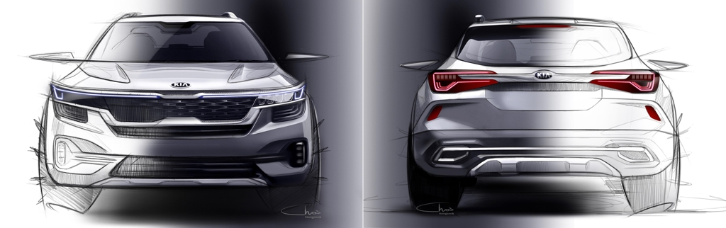 Rendering images of Kia's entry SUV (Yonhap)