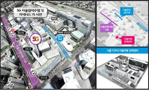 5G autonomous driving technology to be demonstrated in Seoul