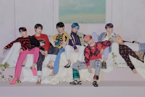 This image provided by Big Hit Entertainment shows BTS. (PHOTO NOT FOR SALE) (Yonhap)