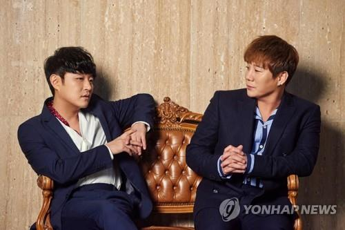 This image of singing duo Vibe comes from Major9 Entertainment. (PHOTO NOT FOR SALE) (Yonhap)