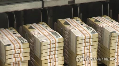 A photo of 50,000-won notes (Yonhap)
