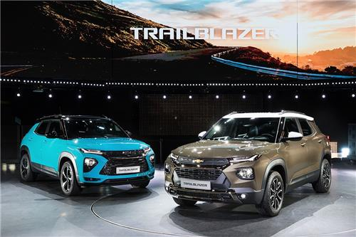 This file photo provided by GM Korea shows the Trailblazer SUV. (PHOTO NOT FOR SALE) (Yonhap)