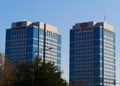 This undated file photo shows Hyundai and Kia's headquarters buildings in southern Seoul. (PHOTO NOT FOR SALE) (Yonhap)