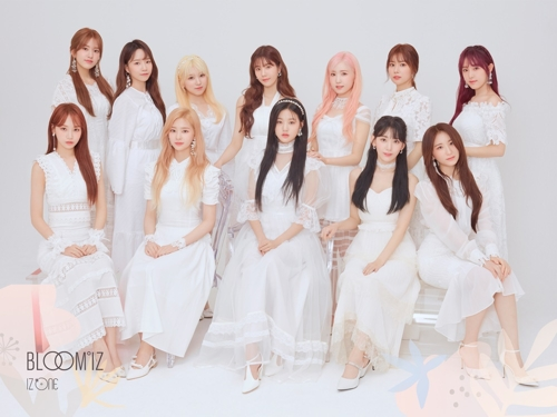This image of IZ*ONE was provided by Off the Record. (PHOTO NOT FOR SALE) (Yonhap)
