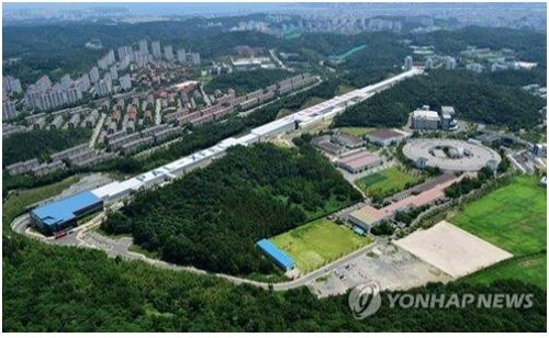 This file image provided by North Gyeongsang Province shows the radiation accelerator in Pohang, 374 kilometers southeast of Seoul. (PHOTO NOT FOR SALE) (Yonhap)