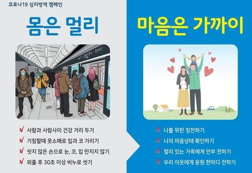 This image provided by the Incheon metropolitan government shows a poster for the city's campaign calling for social distancing while also keeping mental health in check. (PHOTO NOT FOR SALE) (Yonhap)