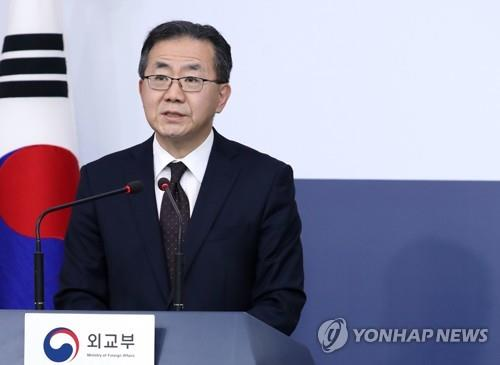 This file photo shows foreign ministry spokesperson Kim In-chul on March 26, 2019. (Yonhap)