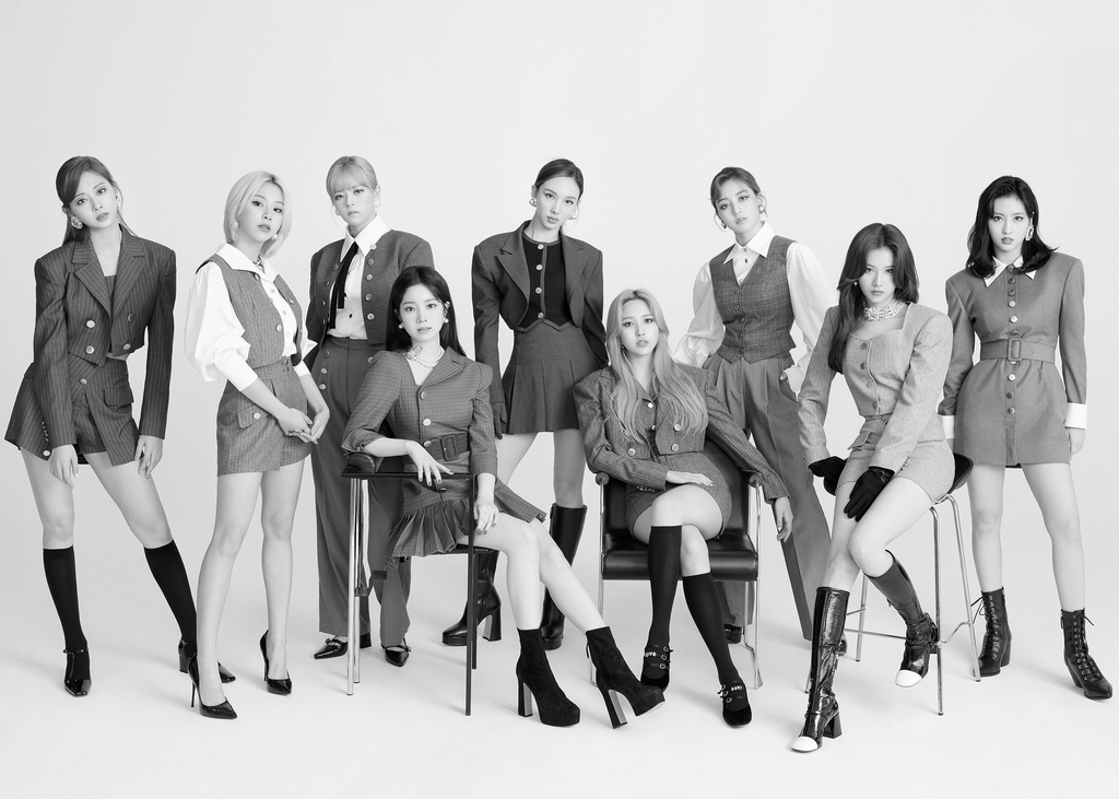 This photo, provided by JYP Entertainment, shows K-pop girl group TWICE. (PHOTO NOT FOR SALE) (Yonhap)