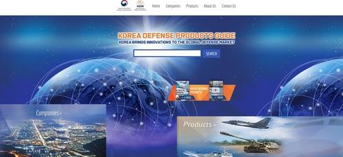 This image shows the front page of the website that displays South Korea's diverse defense products (www.defense-korea.com), captured on Nov. 3, 2020. (PHOTO NOT FOR SALE) (Yonhap)