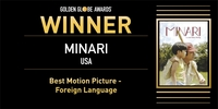 (LEAD) 'Minari' wins best foreign-language film at Golden Globes