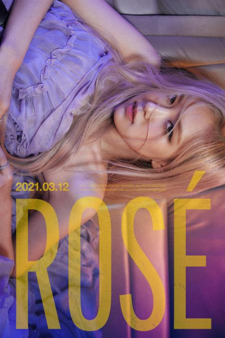 This image, provided by YG Entertainment on March 2, 2021, shows a teaser for BLACKPINK member Rose's upcoming solo album. (PHOTO NOT FOR SALE) (Yonhap)
