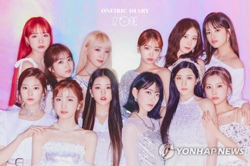 This photo, provided by Swing Entertainment and Off the Record, shows girl group IZ*ONE. (PHOTO NOT FOR SALE) (Yonhap)