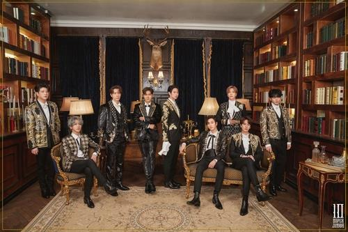 This photo, provided by Label SJ, shows a teaser photo for K-pop boy band Super Junior's 10th studio album released on March 16, 2021. (PHOTO NOT FOR SALE) (Yonhap)