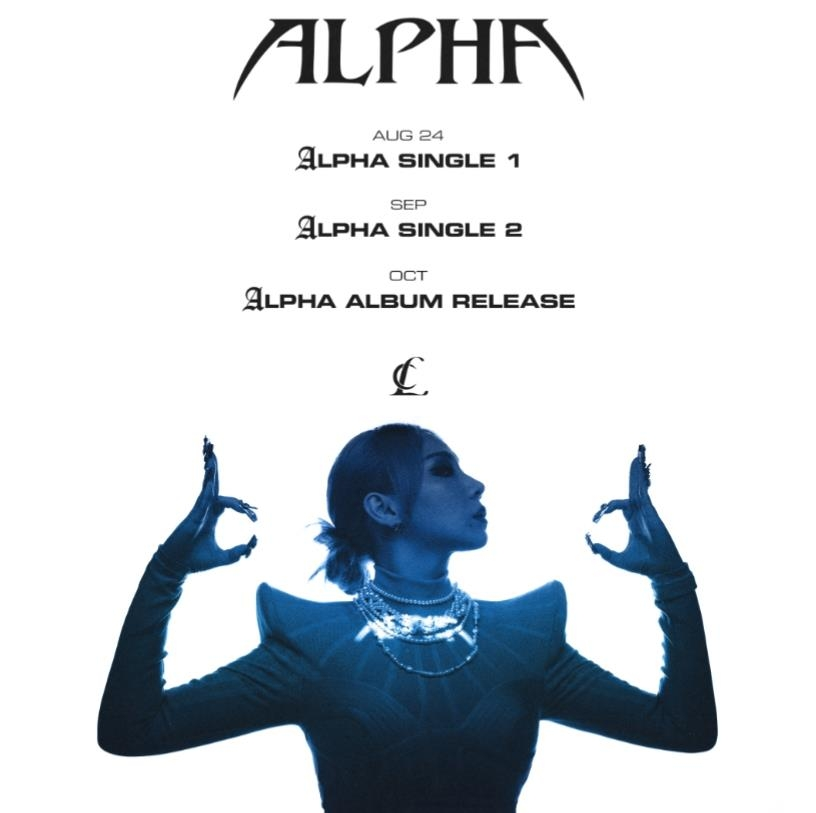 """This image, provided by Very Cherry, shows the schedule for K-pop soloist CL's upcoming solo project """"Alpha."""" (PHOTO NOT FOR SALE) (Yonhap)"""