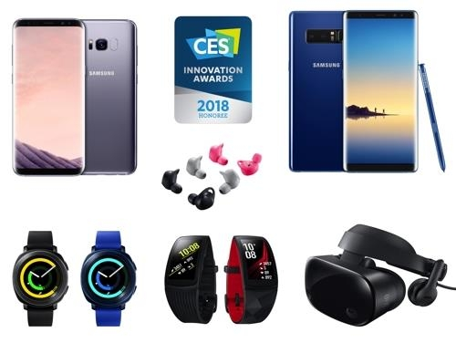 Les produits de Samsung Electronics qui ont remporté le titre «Innovation Honoree» aux Consumer Electronics Show 2018 Innovation Awards. © Samsung Electronics Co.