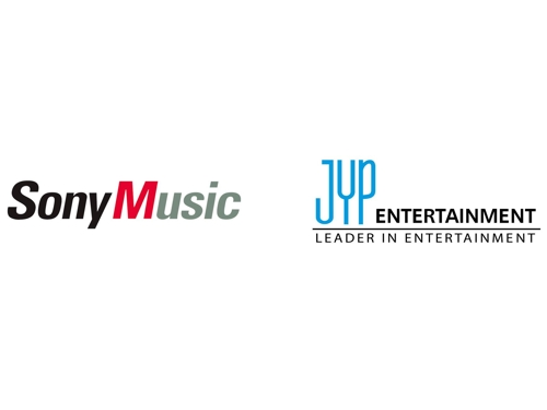 Logos de Sony Music et de JYP Entertainment.