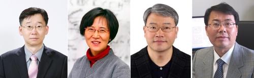 한국과학상 이탁희·이영숙 교수, 한국공학상 심태보·최원용 교수(왼쪽부터)