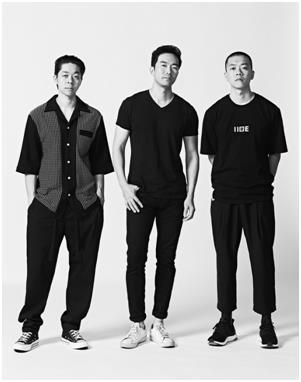 '라이' 디자이너 이청청(가운데), '이세' 디자이너 김인태·김인규