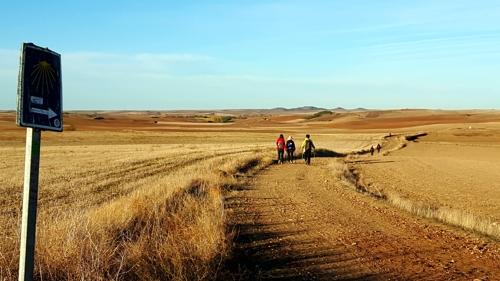 조용히 산티아고 순례자의 길을 걷는 여행자들 [혜초여행사 제공]
