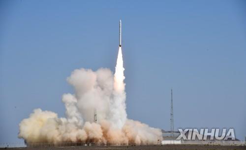 상업용 고체연료 운반로켓 '제룽 1호' 발사 장면