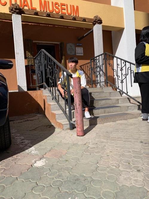 '엄마나라 몽골 문화탐방' 프로그램에 참가한 인천 청학공업고등학교 이찬희 군