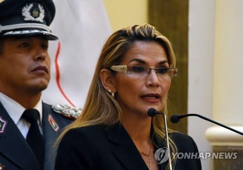 자니네 아녜스 볼리비아 임시 대통령. [AFP=연합뉴스 자료사진]