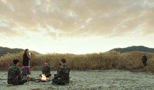 비내섬에서 촬영된 tvN 드라마 장면 [충주시 제공. 재판매 및 DB 금지]