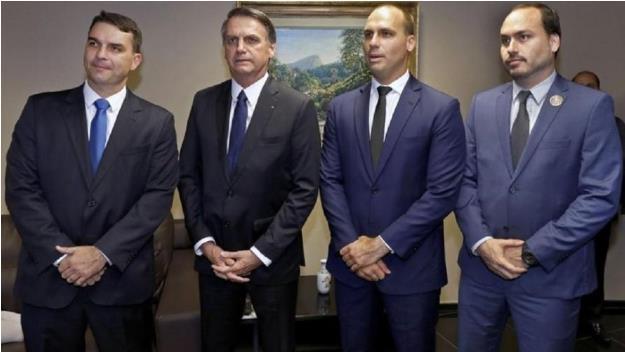 브라질 대통령과 세 아들