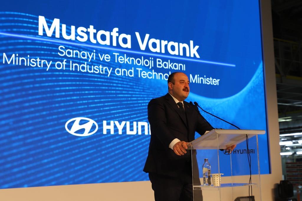 축사하는 무스타파 바란크 터키 산업기술부 장관