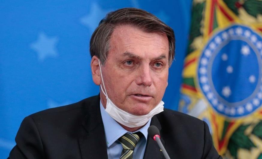 브라질 대통령의 '턱스크'
