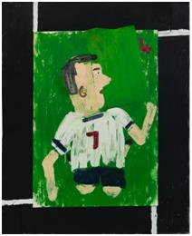 Tottenham Colors, 4 Goals, 2020, Oil on paper and collaged canvas, 84x59cm [UNC 제공. 재판매 및 DB 금지]