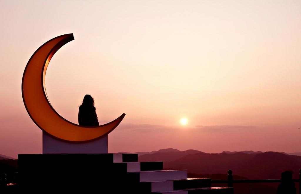 정선 새비재 언덕의 달빛소나타 조형물