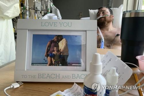 백신 접종을 거부하다 코로나에 걸려 중환자실에 입원한 미주리주 주민 대릴 바커