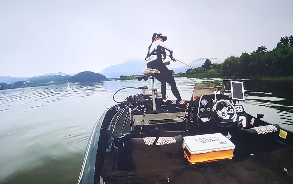 고기 잡아내는 최운정 프로 [MBC TV 캡처]
