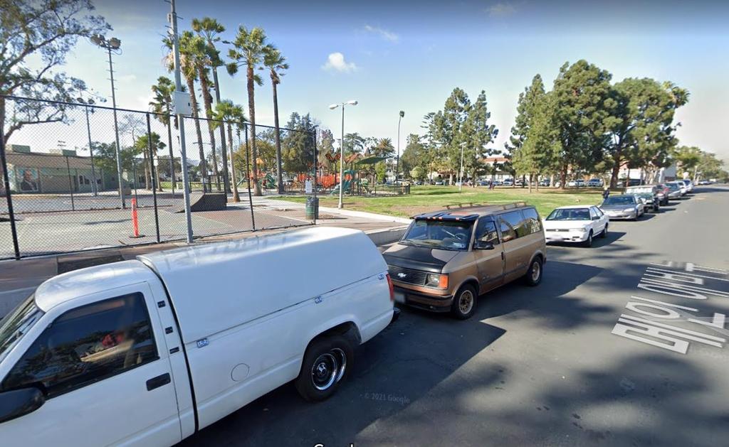 주차 시비로 총격 사건이 발생한 롱비치 동네 거리