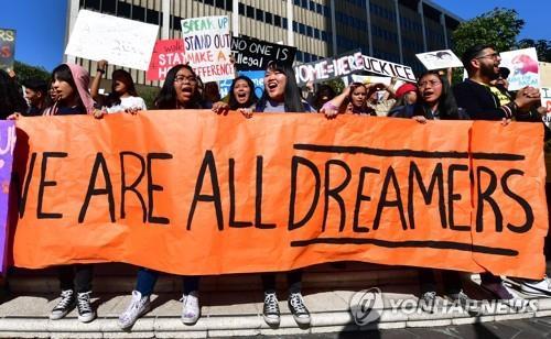2019년 로스앤젤레스에서 열린 다카 지지 시위