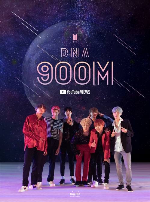 El videoclip 'DNA' de BTS supera los 900 millones de visualizaciones en YouTube